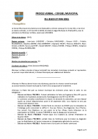 Proces verbal municipal 27 mai 2021